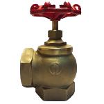 Клапан латунь угловой КПК-50-2 муфта/цапка 125⁰