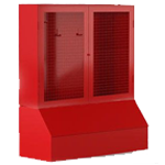 Щит пожарный с ящиком для песка 0,3 м³ закрытый метал. с сеткой 1300*1500*500