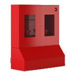 Щит пожарный с ящиком для песка 0,3 м³ закрытый метал. с окнами 1300*1500*500